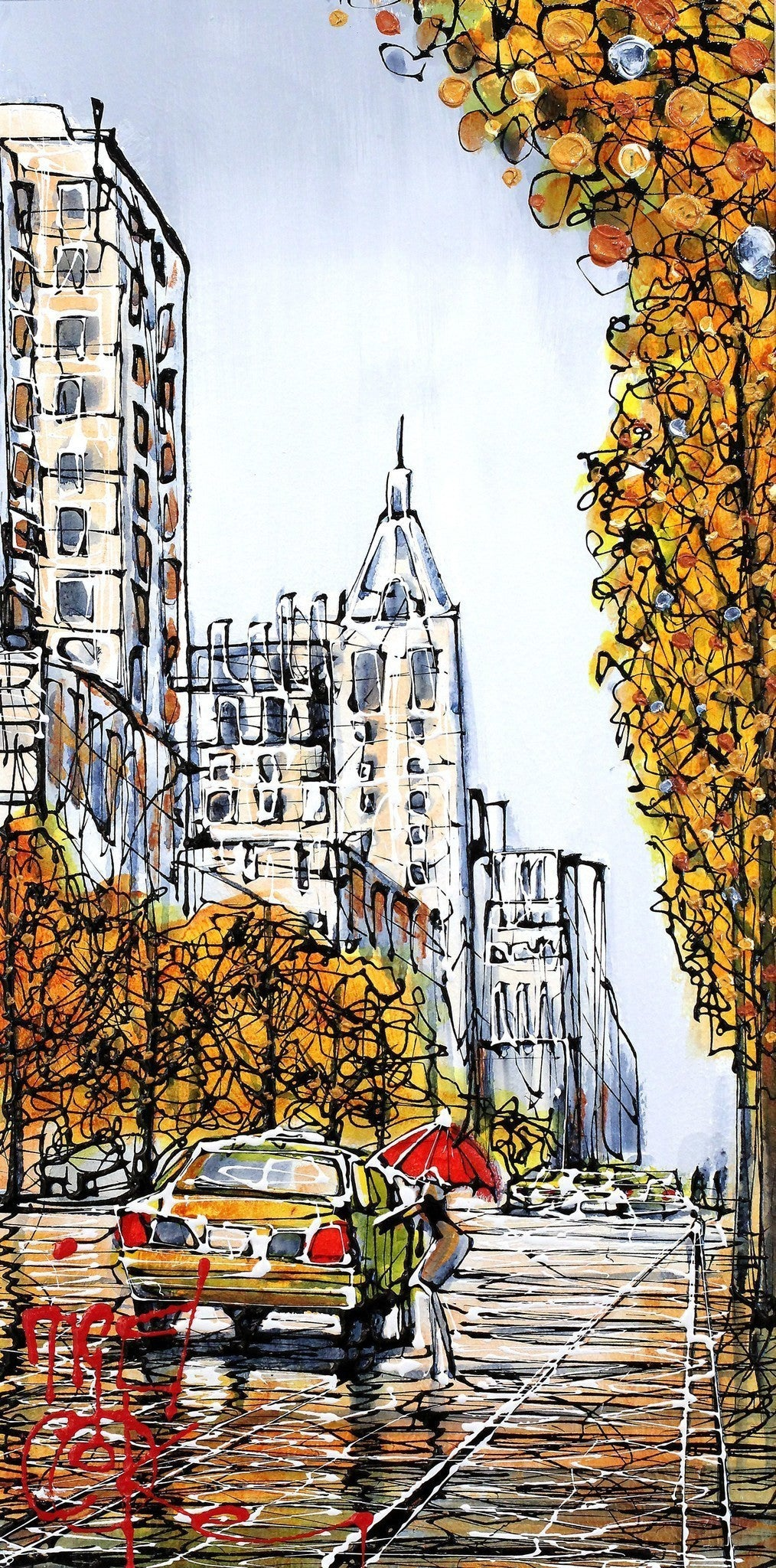 Autumn in NYC - SOLD Nigel Cooke