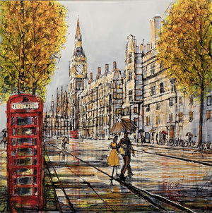 Down Pour Westminster - SOLD Nigel Cooke