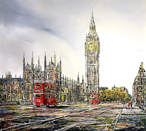 Routemasters in Westminster - SOLD Nigel Cooke
