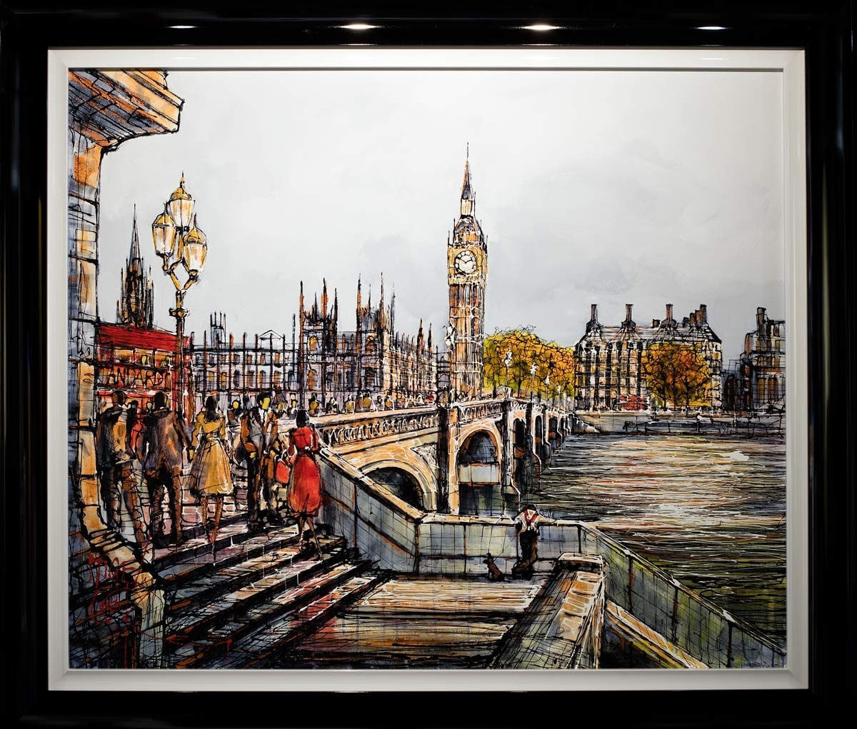 Rush Hour Reflections - SOLD Nigel Cooke