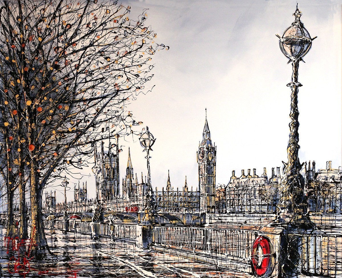 Southbank In Winter - SOLD Nigel Cooke