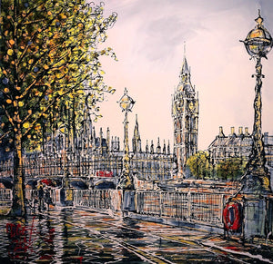 Southbank Showers - SOLD Nigel Cooke