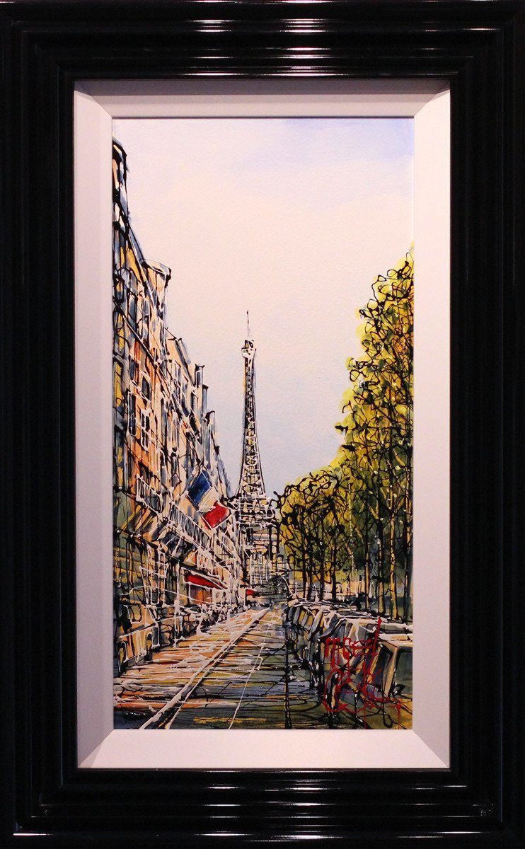 Tree Lined Avenue, Paris - SOLD Nigel Cooke