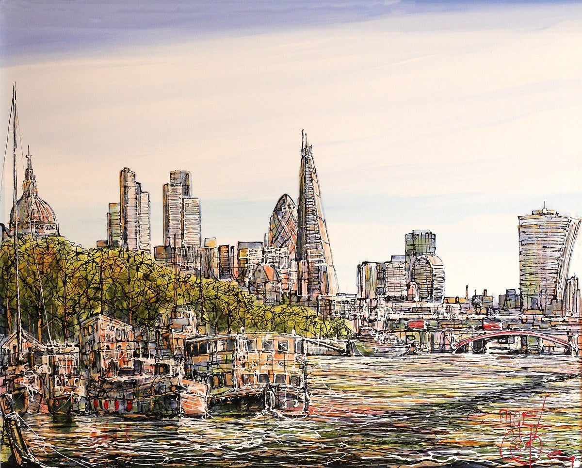 View of the Shard - SOLD Nigel Cooke