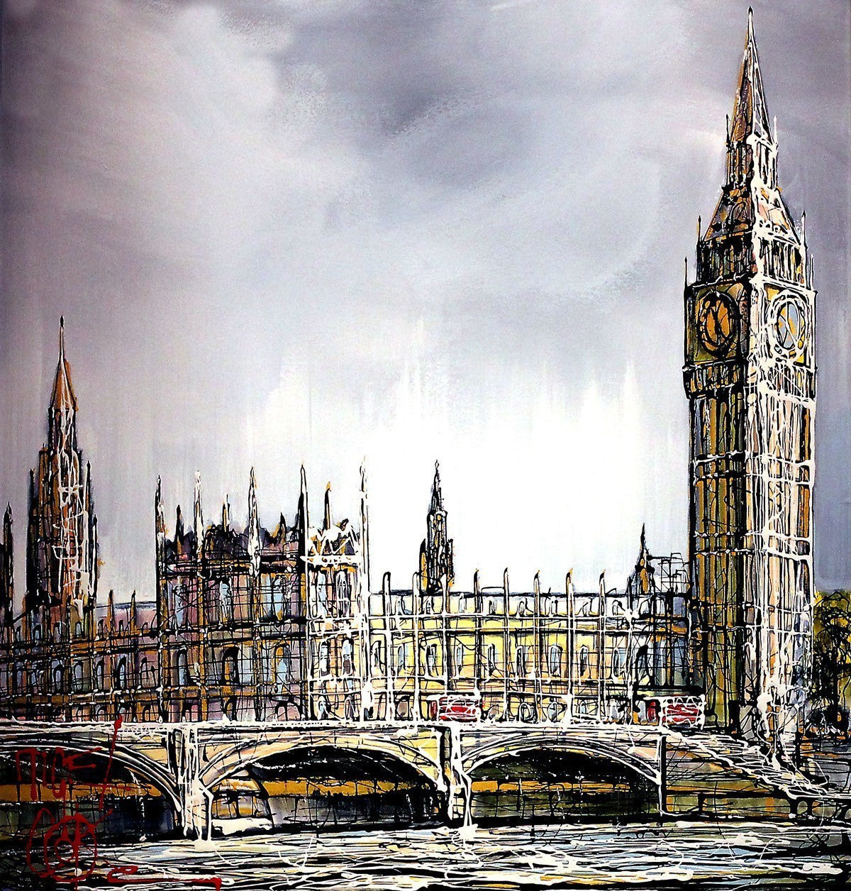Westminster Skies - SOLD Nigel Cooke