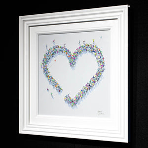 A Lot of Love Paola Cassais Framed