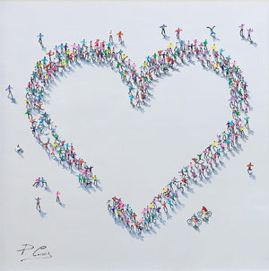 A Whole Lot of Love Paola Cassais Framed