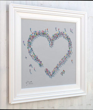 A Whole Lot of Love - Original Paola Cassais Framed