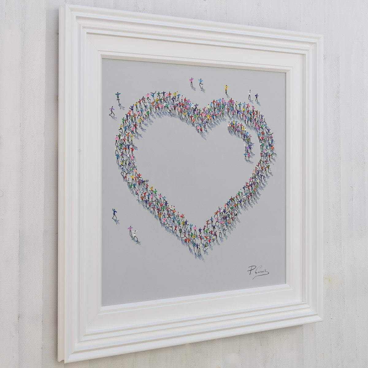 All Together Now - Original Paola Cassais Framed