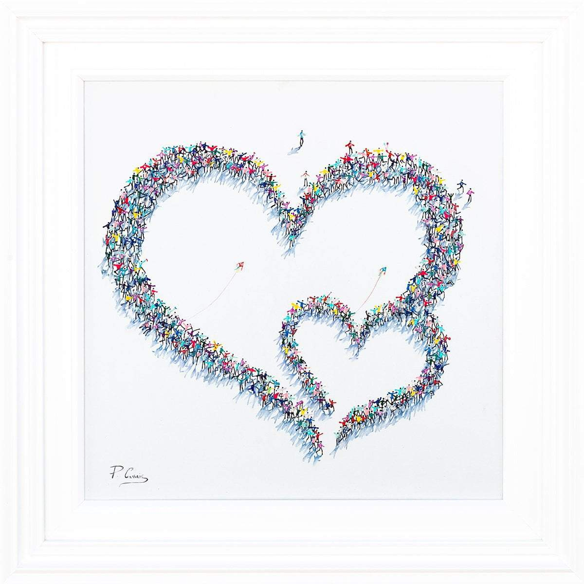 Everlasting Love - Original Paola Cassais Framed