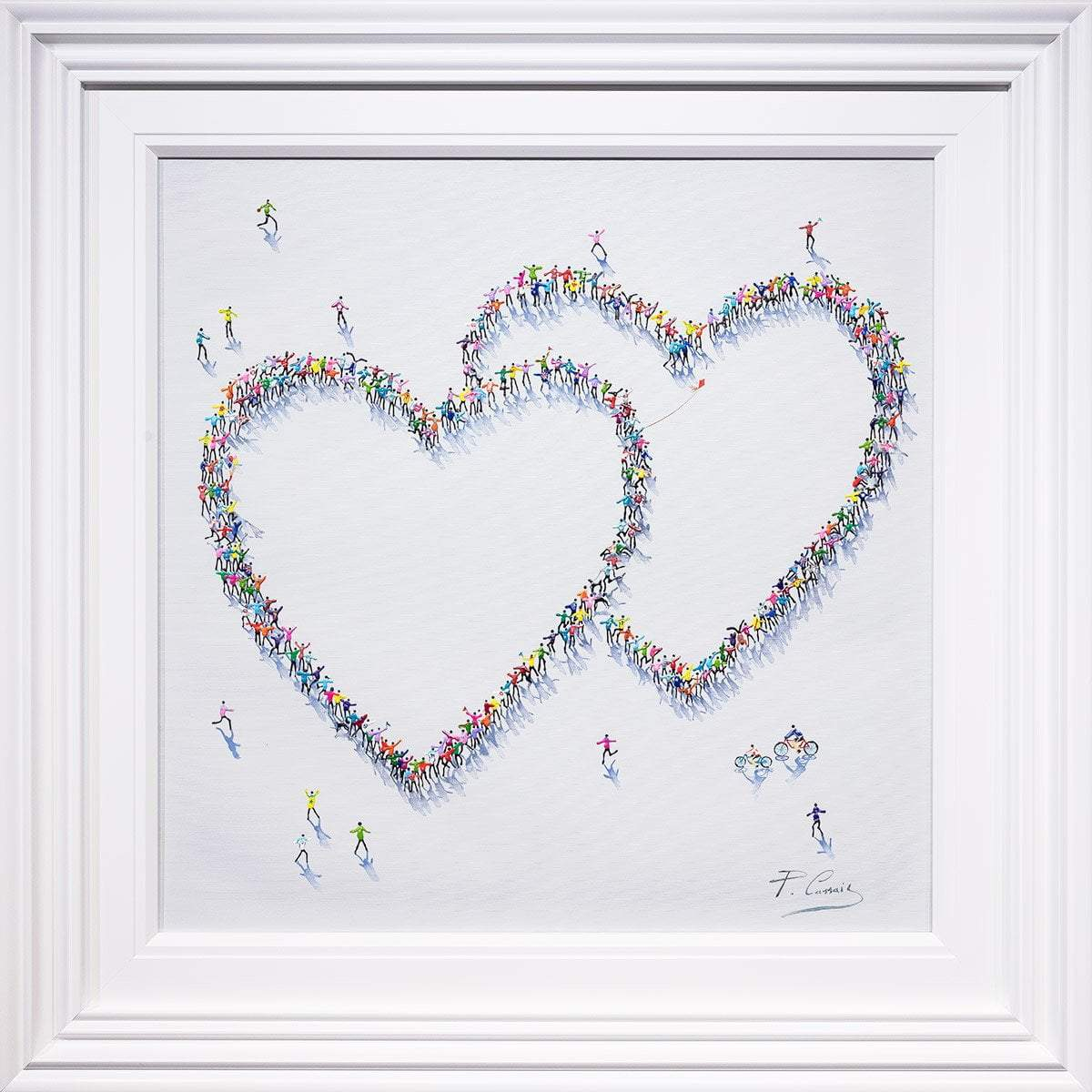 Fun and Games - Original Paola Cassais Framed