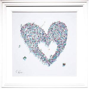 Heart of Hearts - Original Paola Cassais Framed