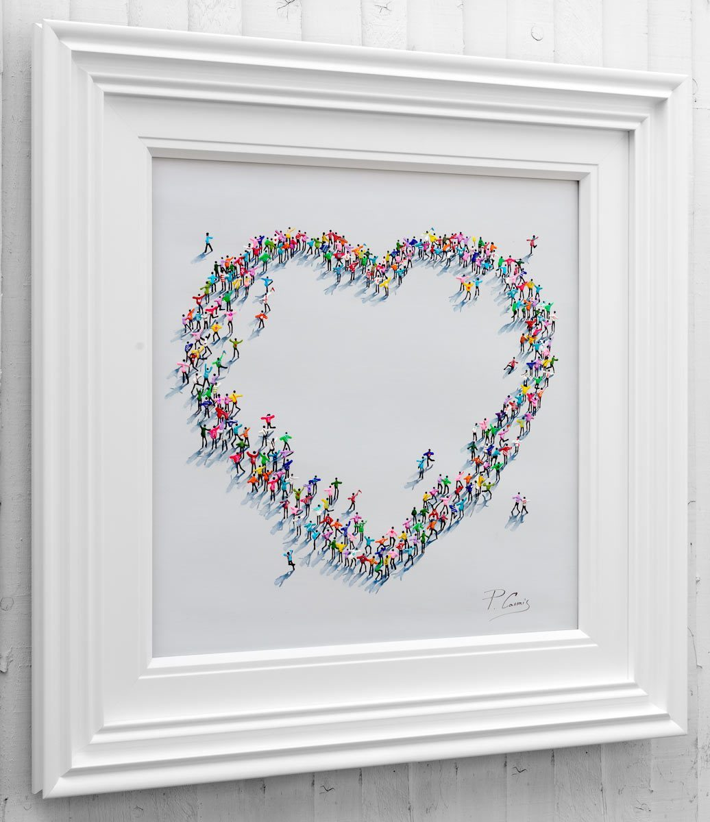 Heart Warming - Original Paola Cassais Framed