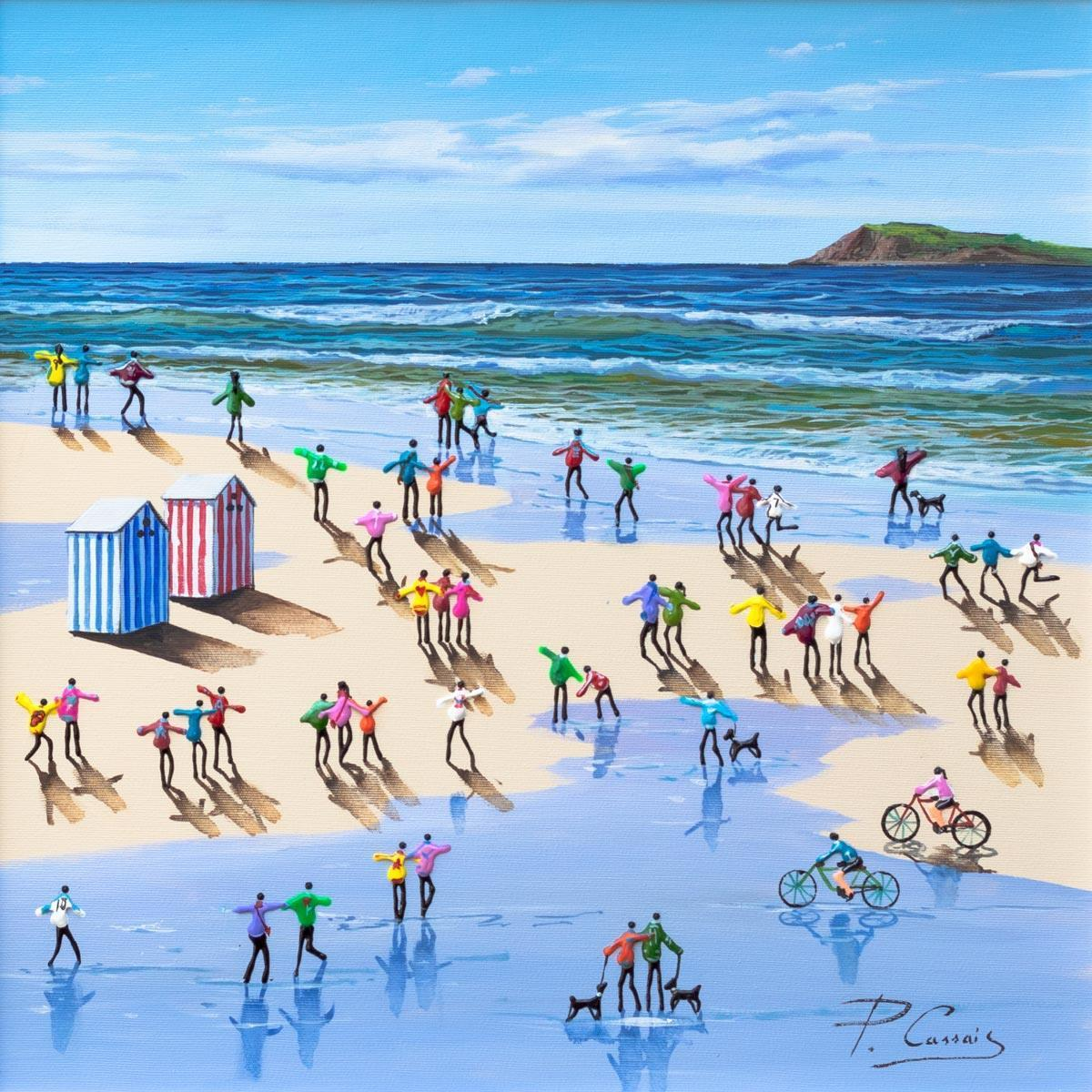 Holidaymakers Paola Cassais Framed