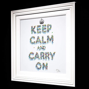 Keep Calm and Carry On - Original Paola Cassais Framed