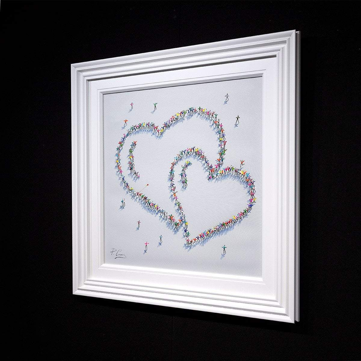 Love and Laughter - Original Paola Cassais Framed