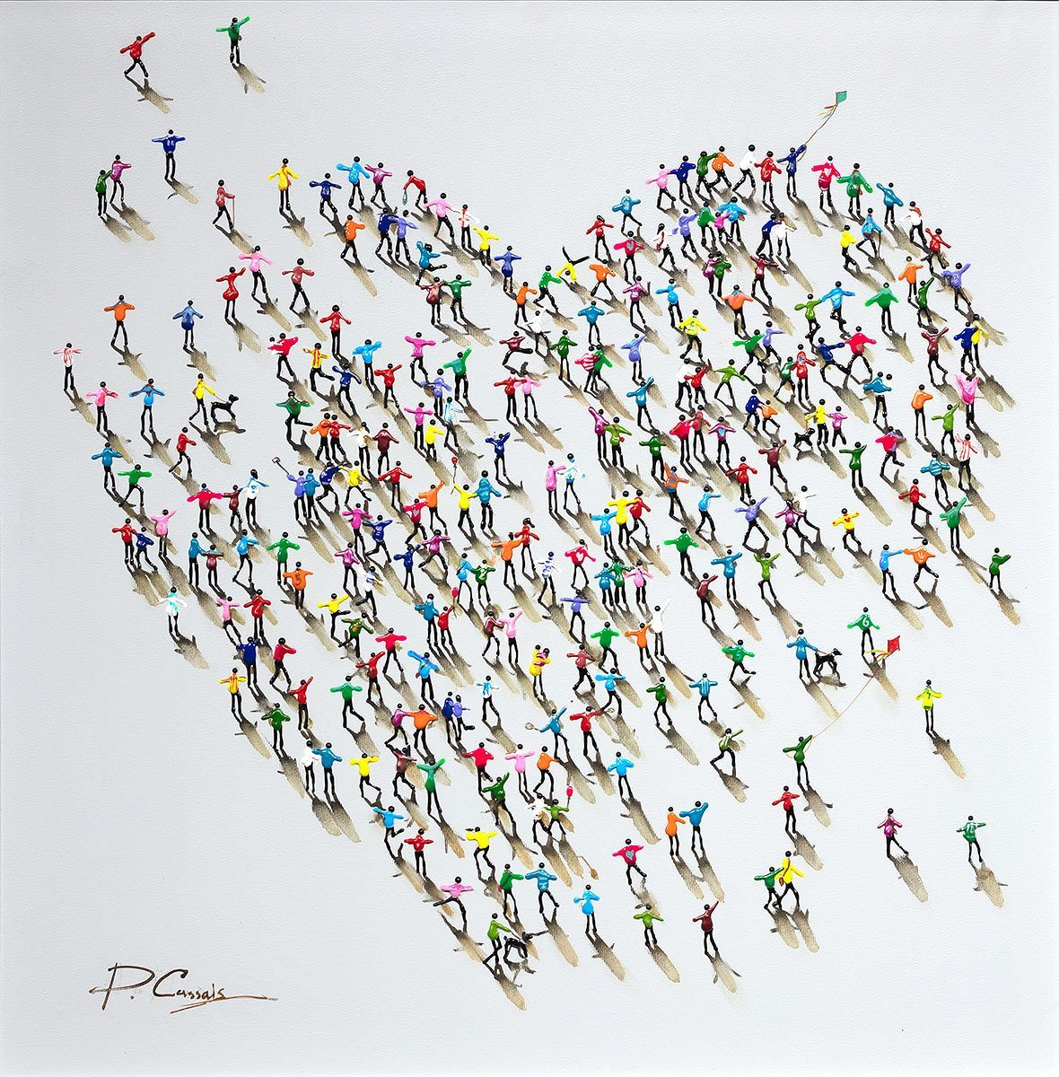 Love From Us All - Original - SOLD Paola Cassais Framed