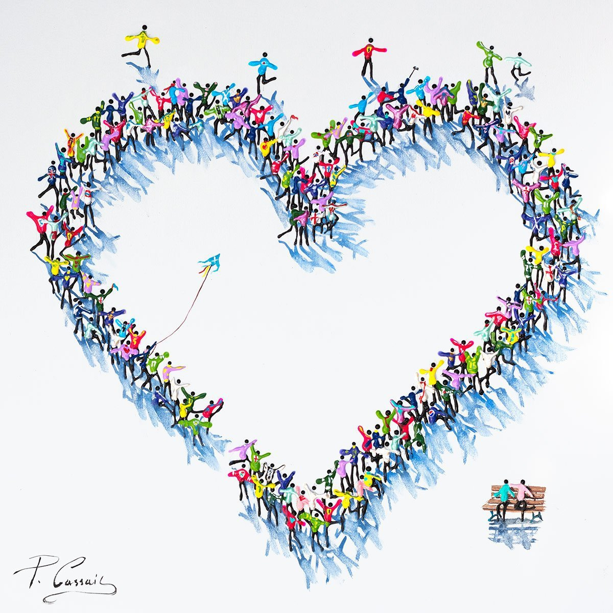 Love Is All You Need - Original Paola Cassais Framed