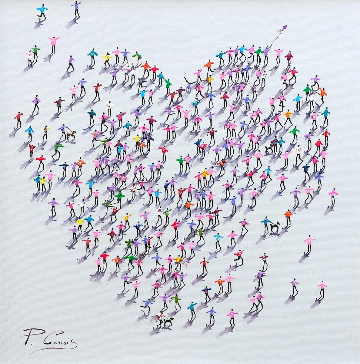 Love Is For Sharing Paola Cassais Framed