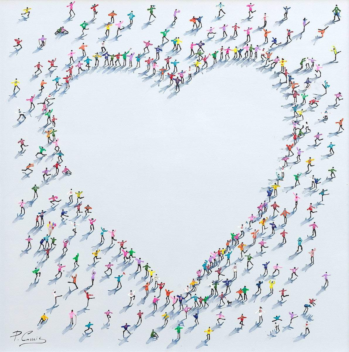 Love Leads The Way - Original Paola Cassais Framed