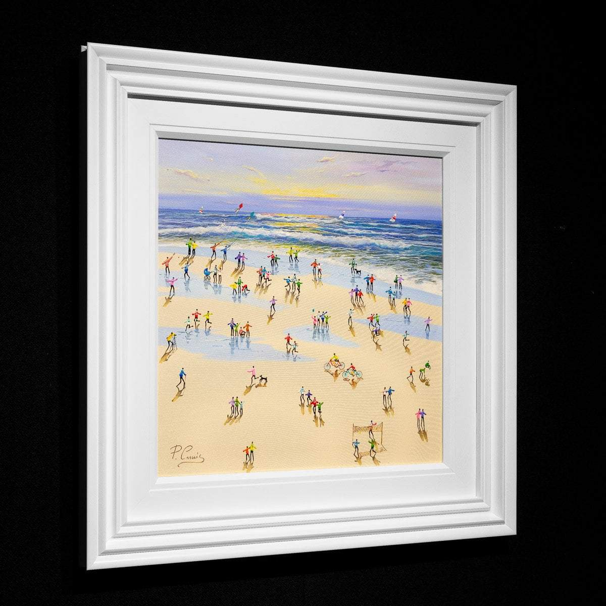 Rolling Waves - Original Paola Cassais Framed