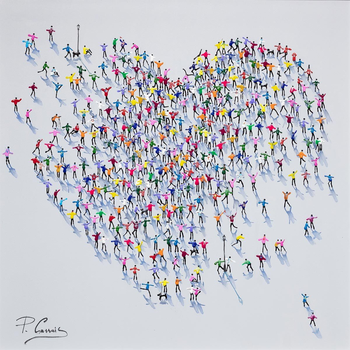 Sharing The Love - Original Paola Cassais Framed