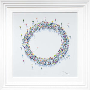 Social Circle - Original Paola Cassais Framed