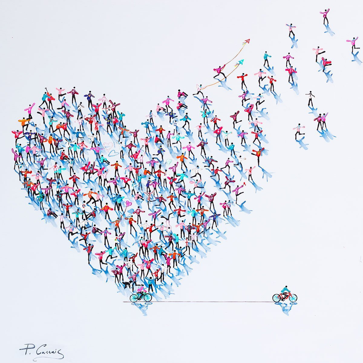 Spreading the Love - Original - SOLD Paola Cassais Framed