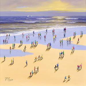 Stroll Along The Beach Paola Cassais Framed