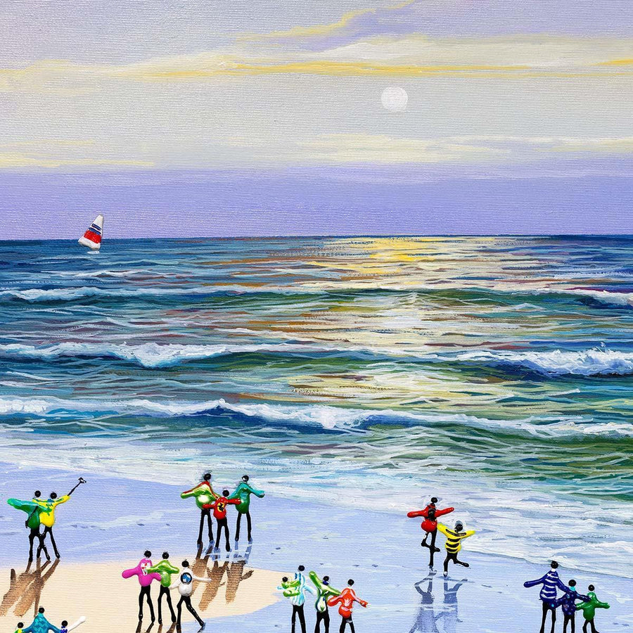 Summer At The Seaside Paola Cassais Framed