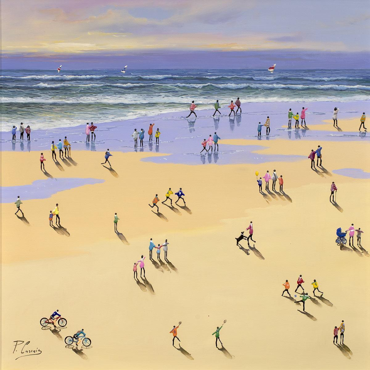 Summer Fun - Original Paola Cassais Framed