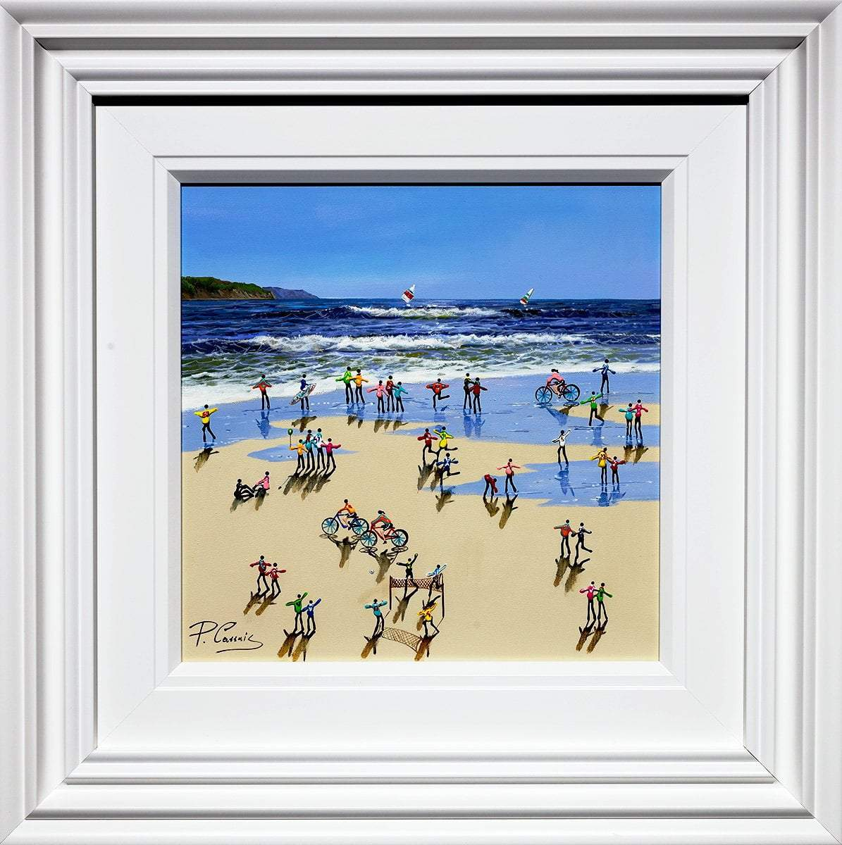 Summer Memories - Original Paola Cassais Framed