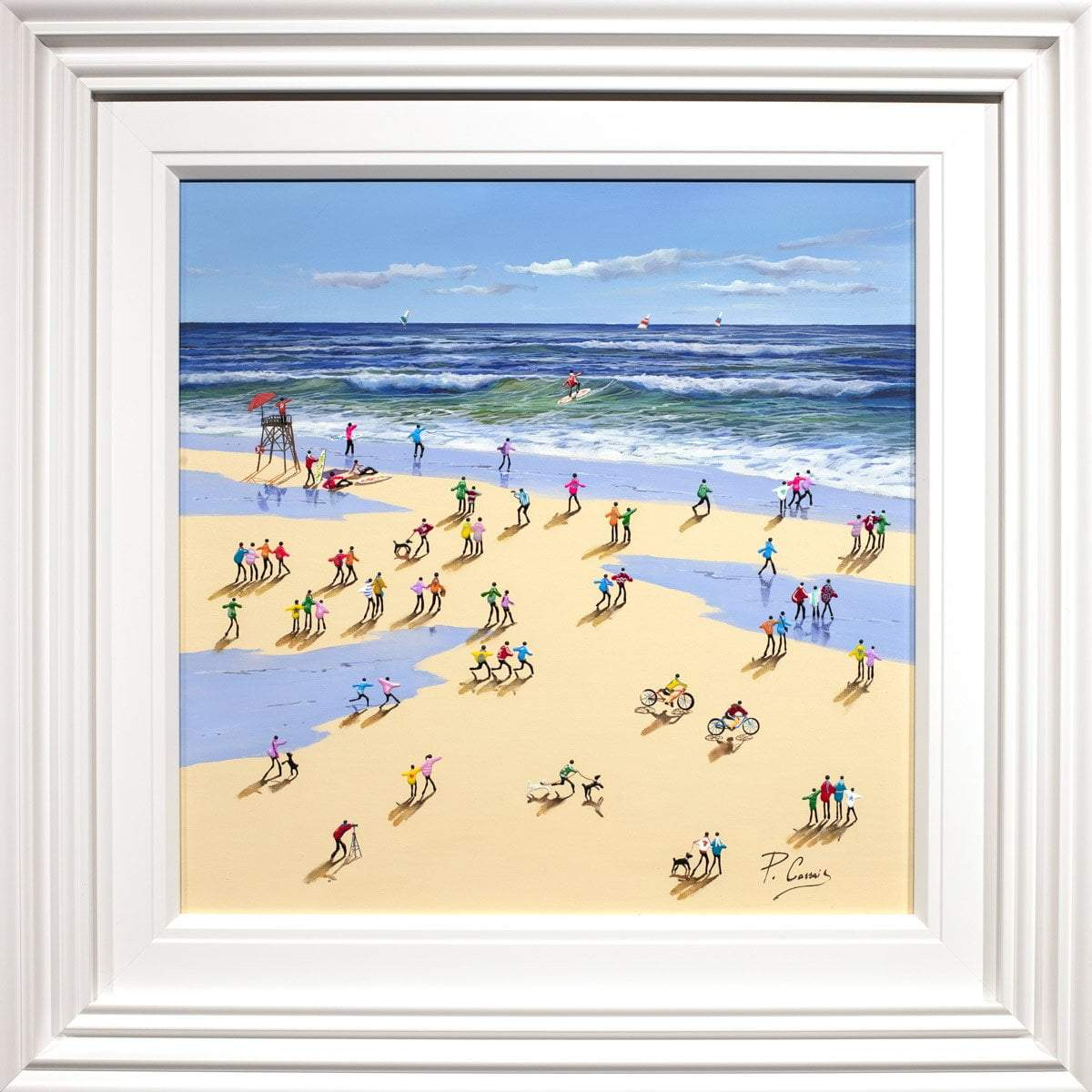 The Joys of Summer - Original Paola Cassais Framed