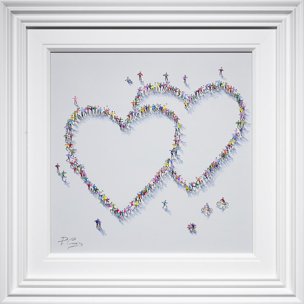 Two Times The Love - Original Paola Cassais Framed
