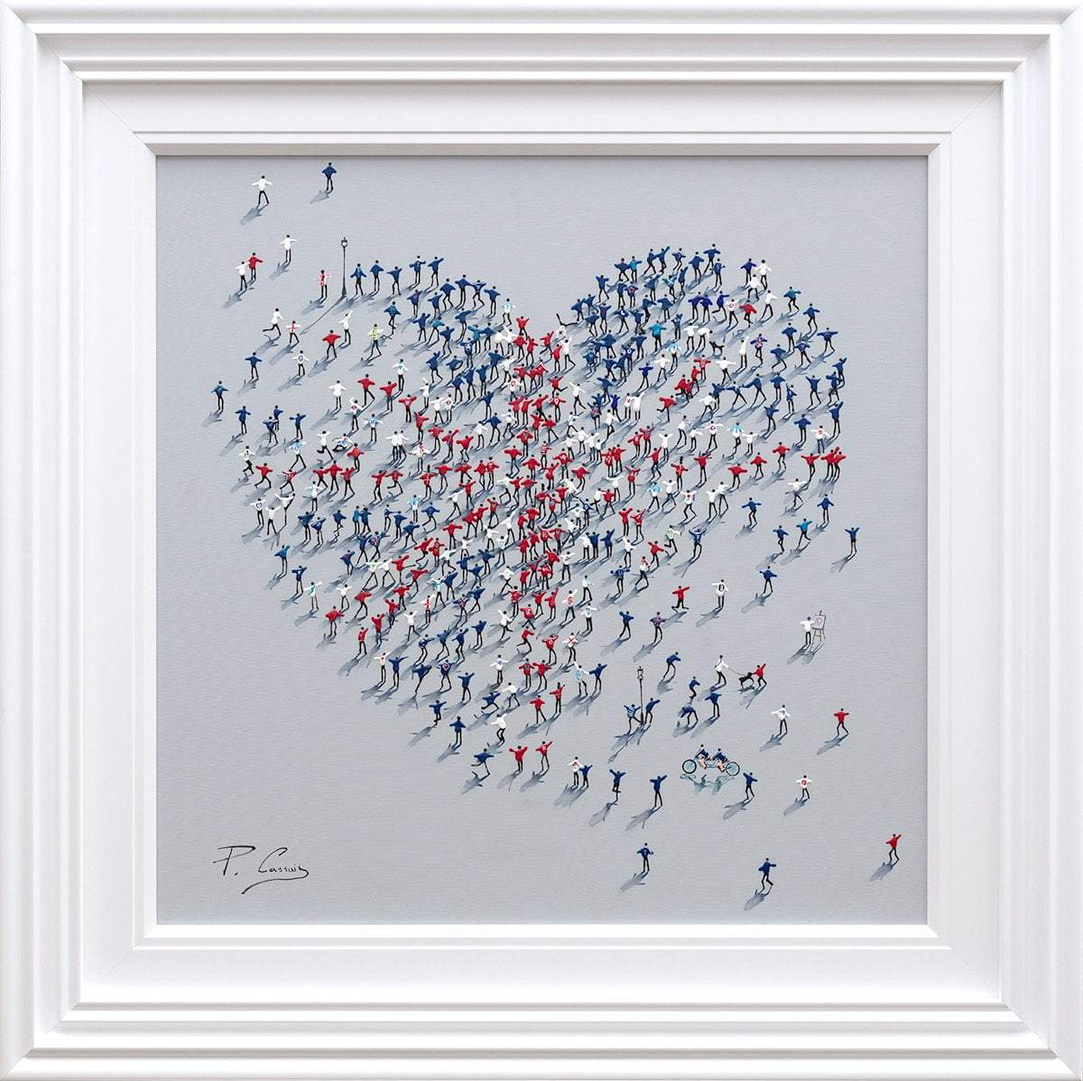 United - Original Paola Cassais Framed