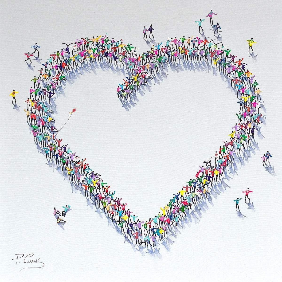 With Love - Original Paola Cassais Framed