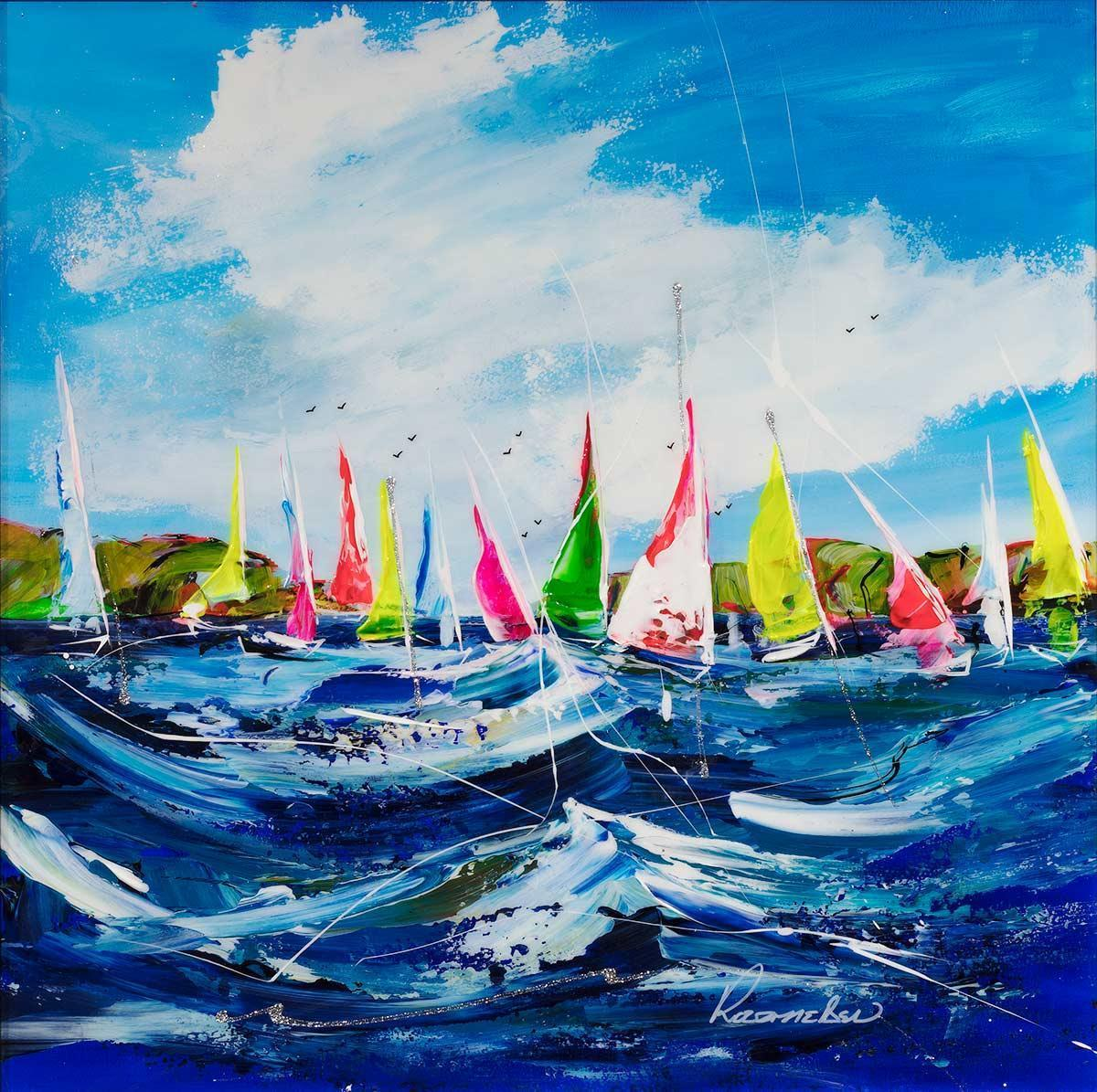 A Day On The Yacht - Original Rozanne Bell