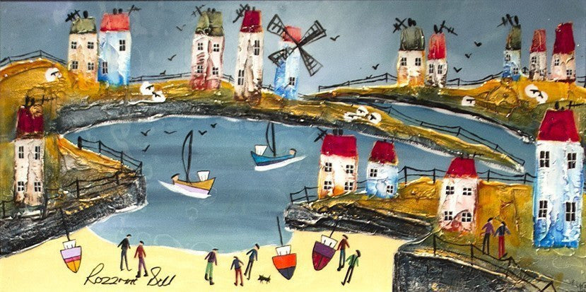 A Fine Day for Fishing - SOLD Rozanne Bell