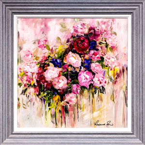 A Touch of Purple - Original Rozanne Bell Framed