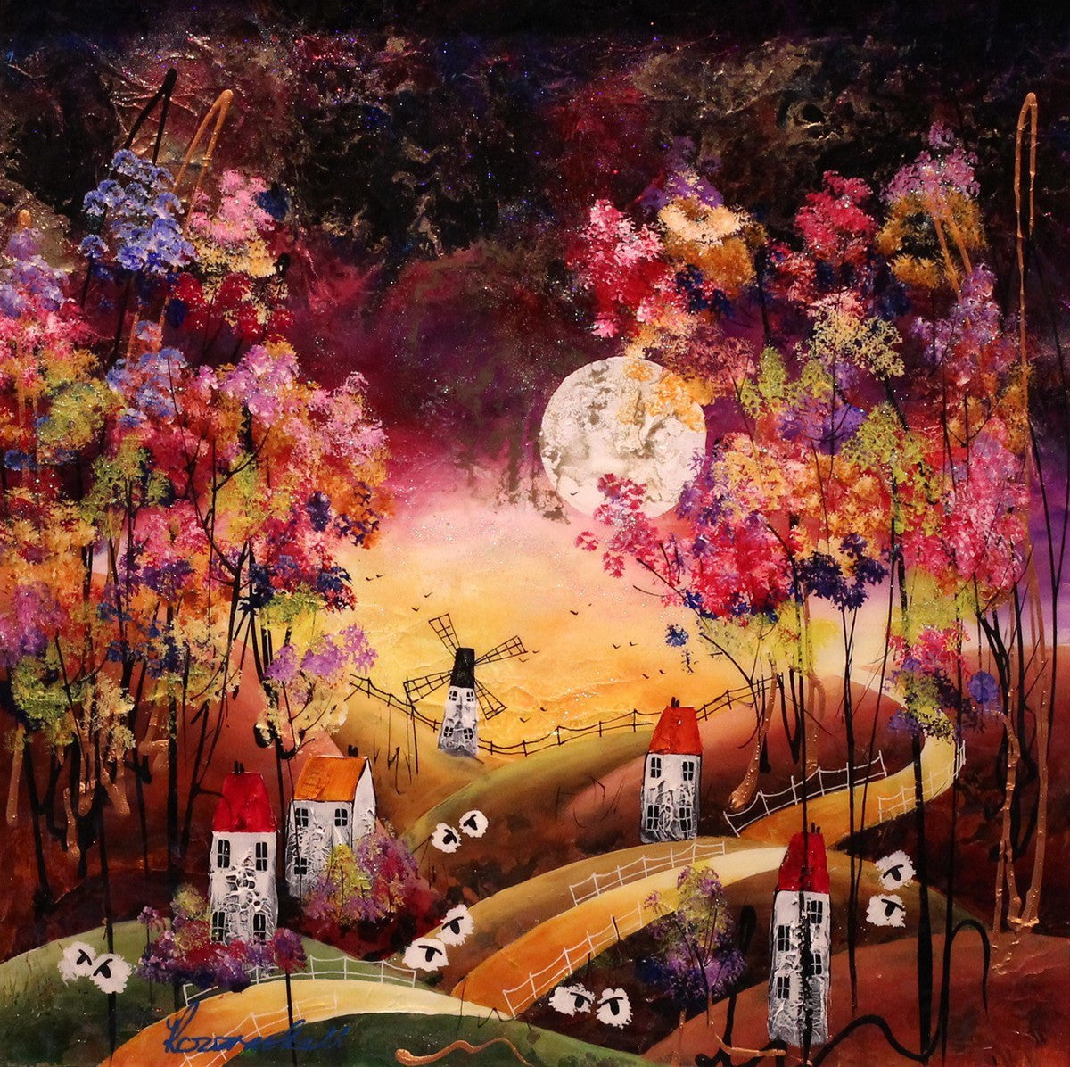 Autumn Moon - SOLD Rozanne Bell