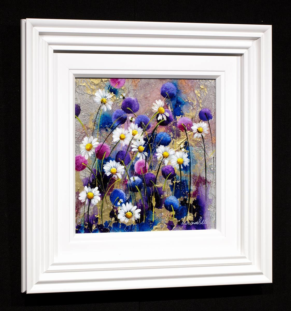 Blossoming I - Original Rozanne Bell Framed