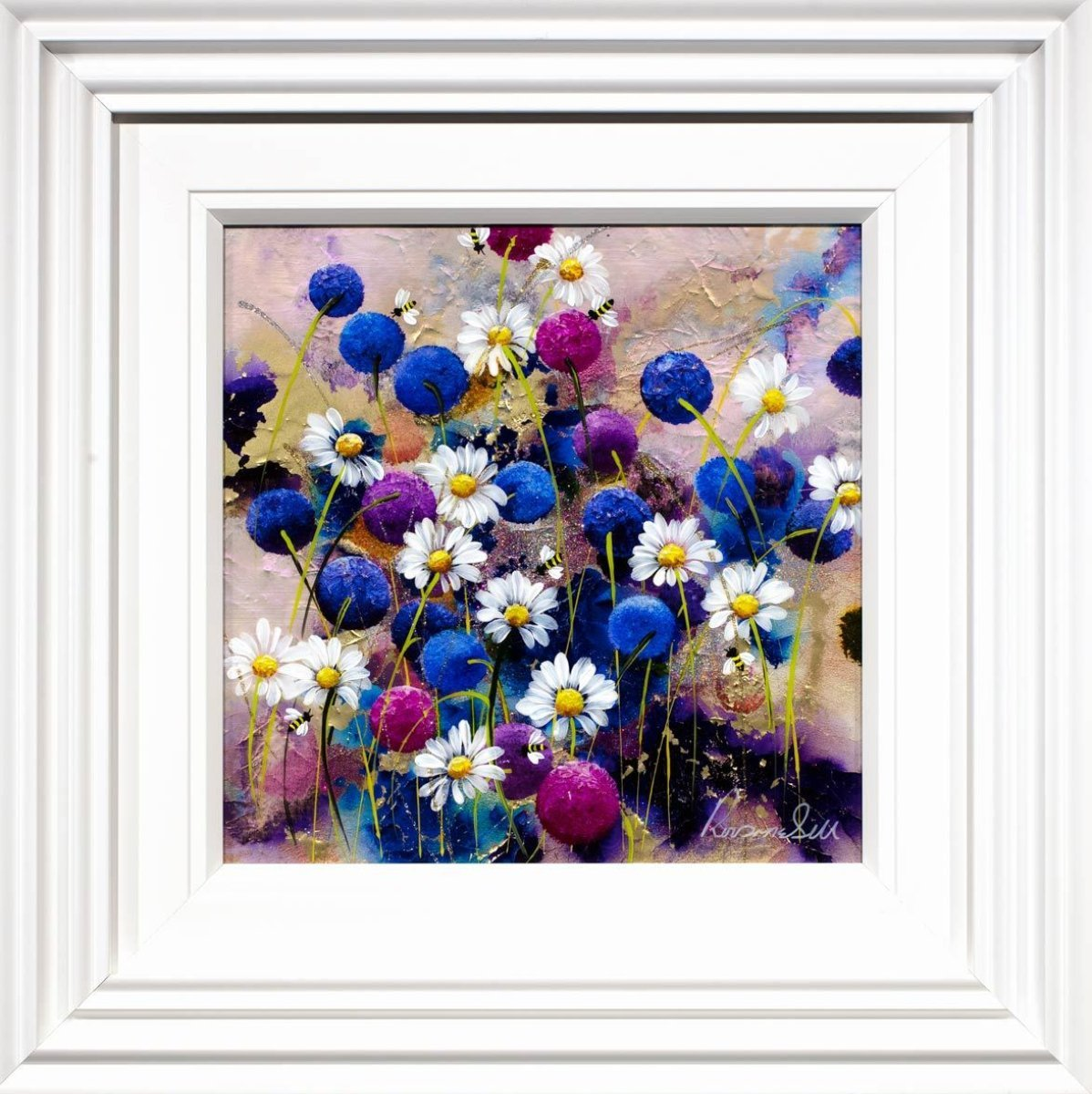 Blossoming II Rozanne Bell Framed