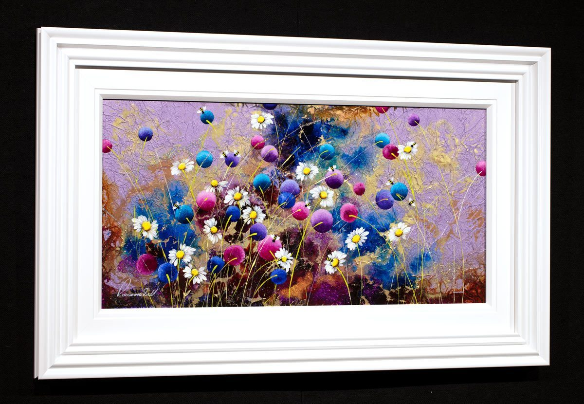 Busy Bees - Original Rozanne Bell Framed