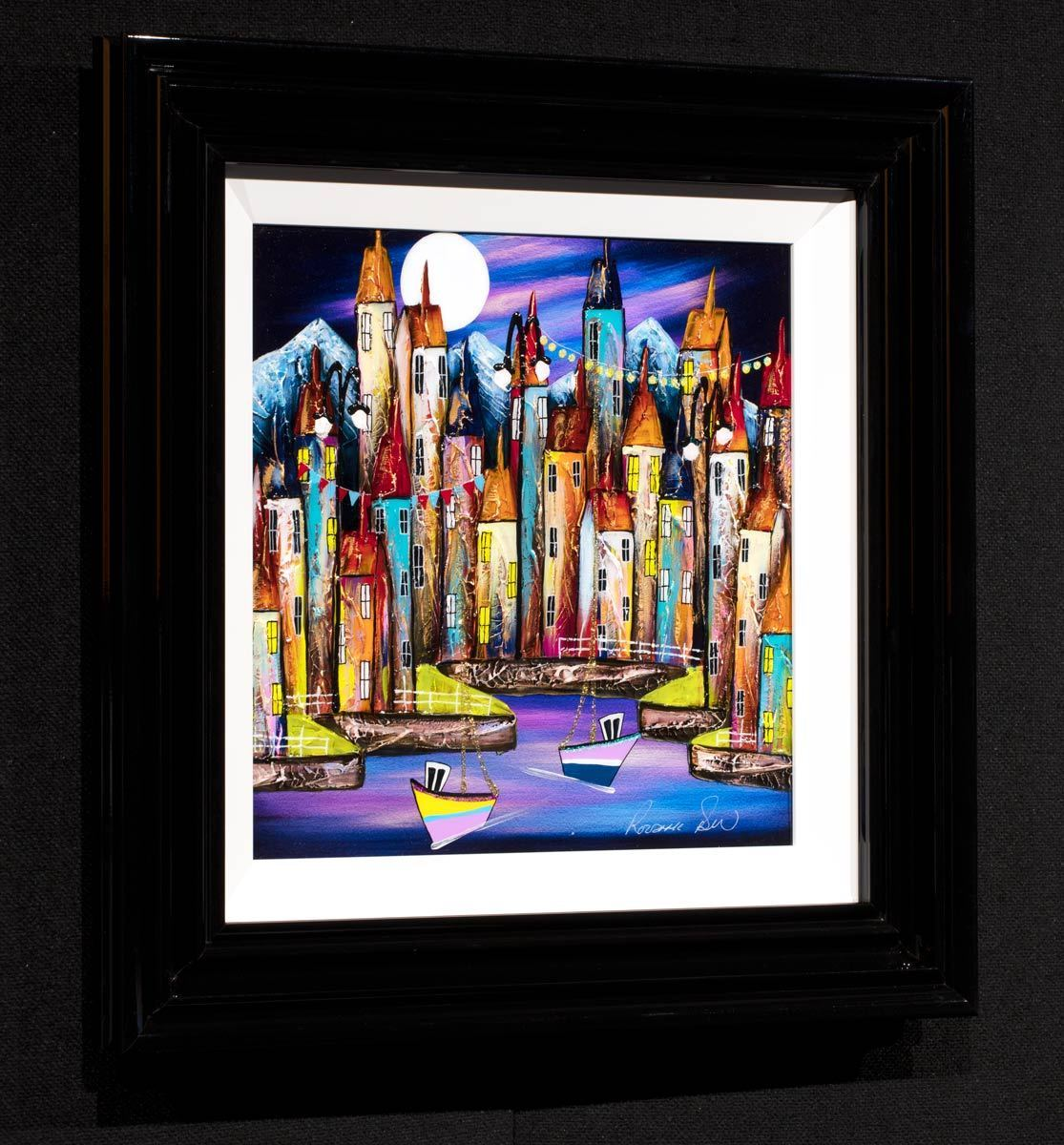 Copy of A Quiet Night II - Original Rozanne Bell Framed