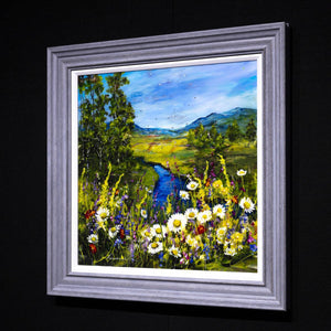 Daisies by the Lake Rozanne Bell Framed