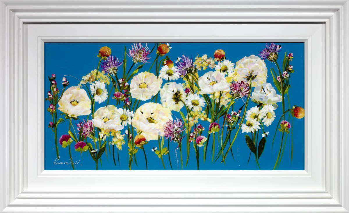 Daisy Delight - Original Rozanne Bell Framed