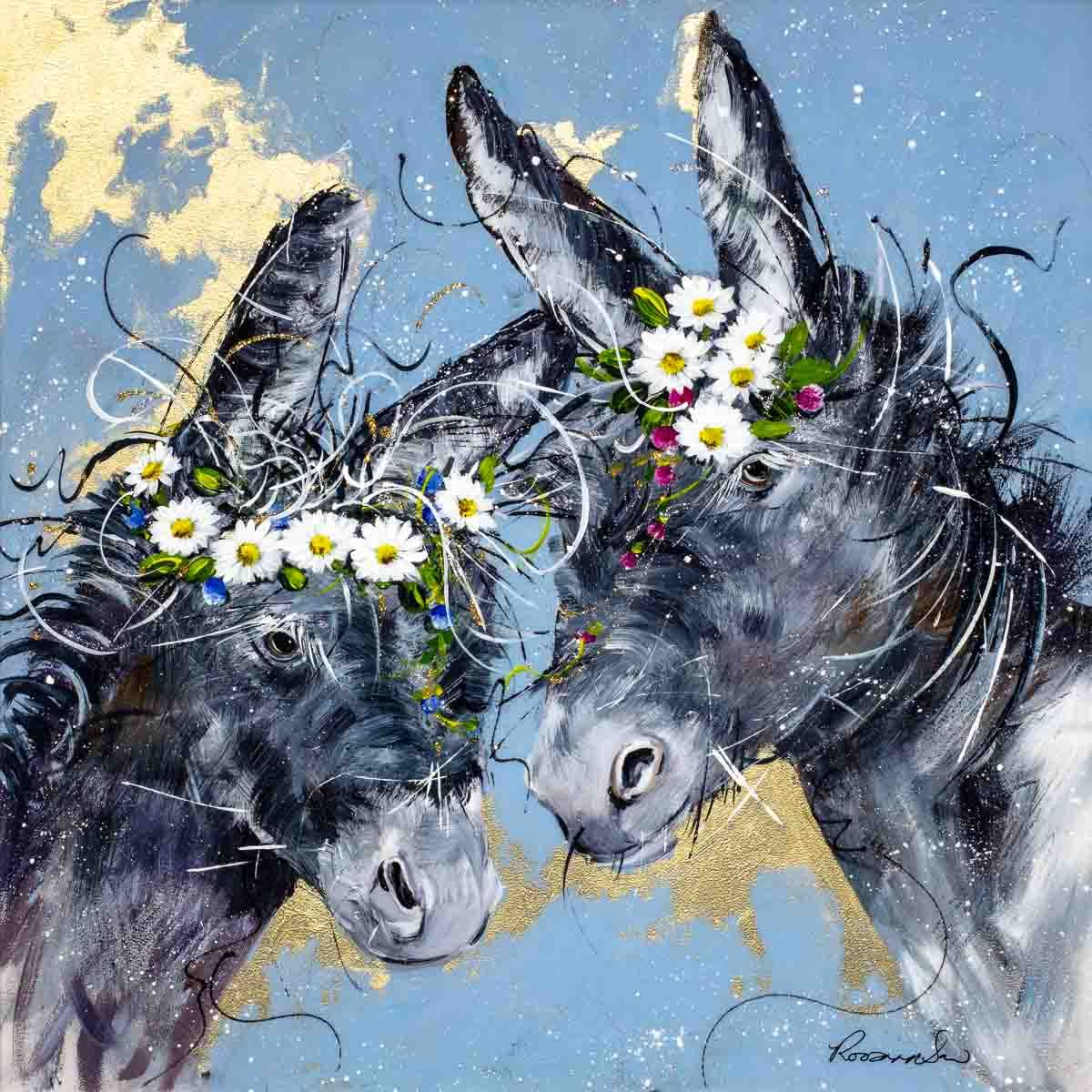 Daisy Duo - Original Rozanne Bell Framed