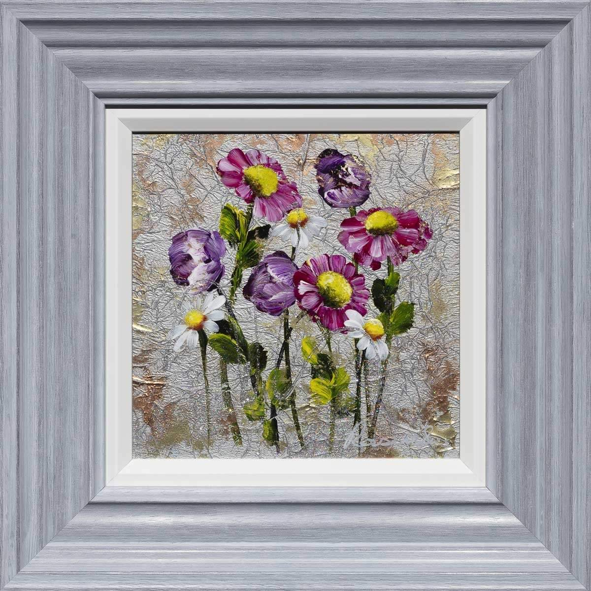 Dancing Daisies - Original Rozanne Bell Framed