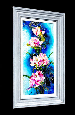 Dragonflies and Blossom - Original Rozanne Bell Framed