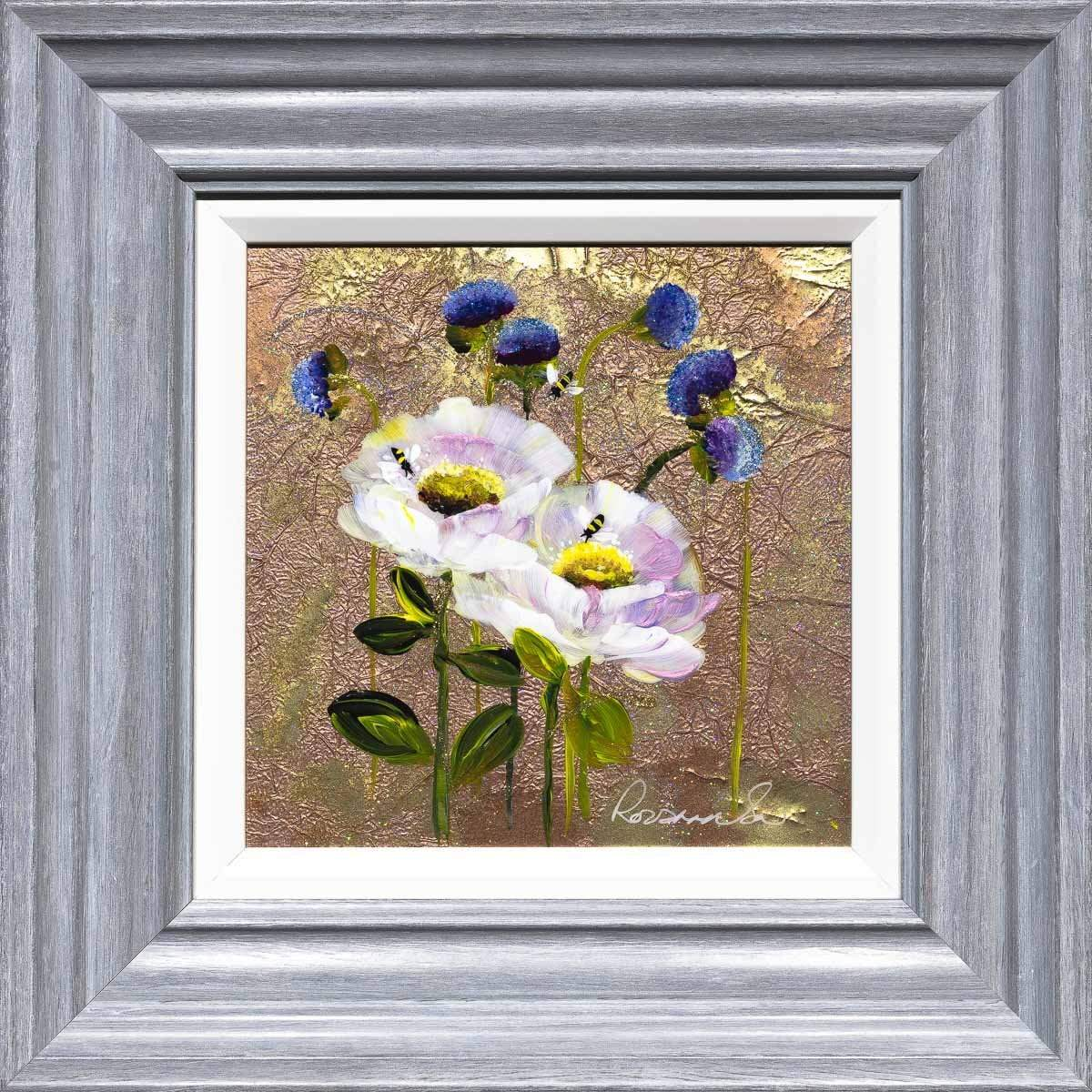 Floral Fancy - Original Rozanne Bell Framed